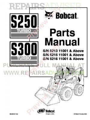 Download Bobcat S250S300 Turbo Parts Diagram Manual PDF