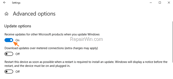 automatically install office updates windows 10