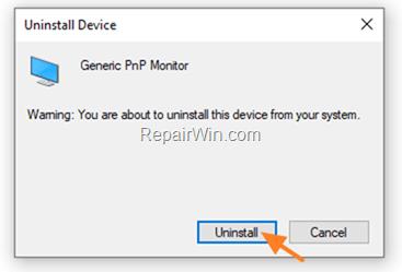 Unisntall Generic PNP Monitor