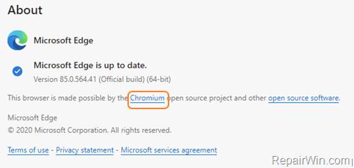 Remove Edge Chromium in Windows 10