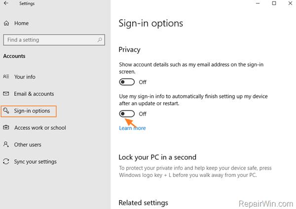 Fix: Can't login after update in Windows 10