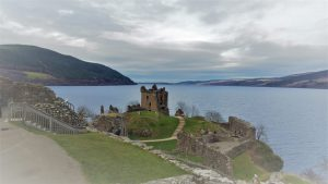Ruins of Urquhart Castle and Loch Ness. Scotland, Highlands, Σκωτία