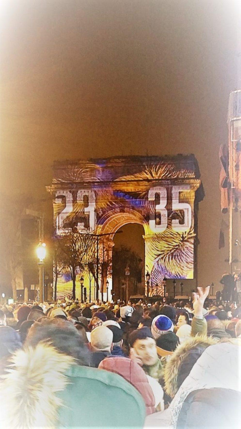 Πρωτοχρονιά στο Παρίσι! Αψίδα του Θριάμβου