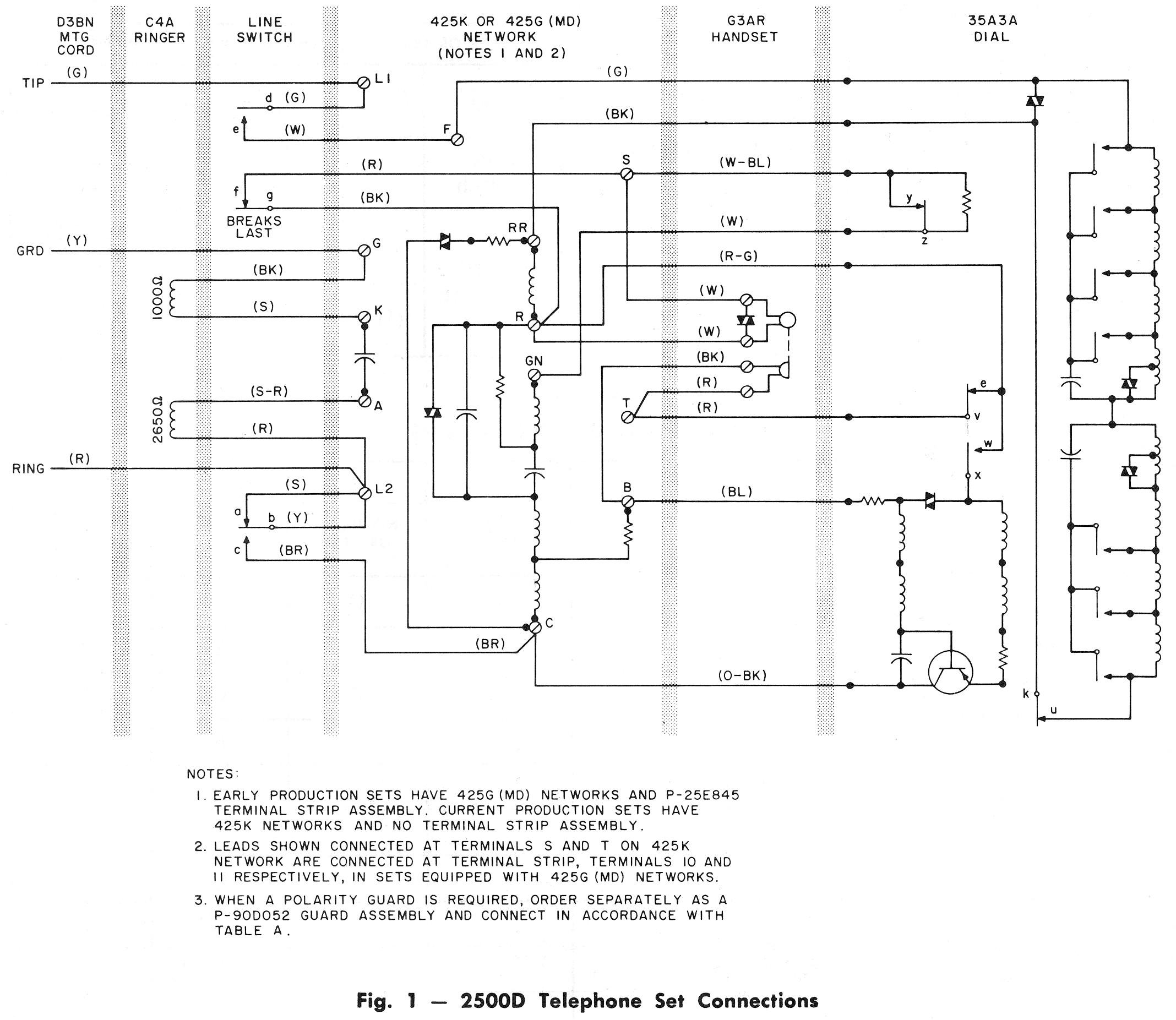 Wrg Telephone Schematic