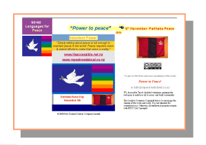 Parihaka Power to Peace