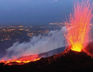 Eruption of Etna Volcano