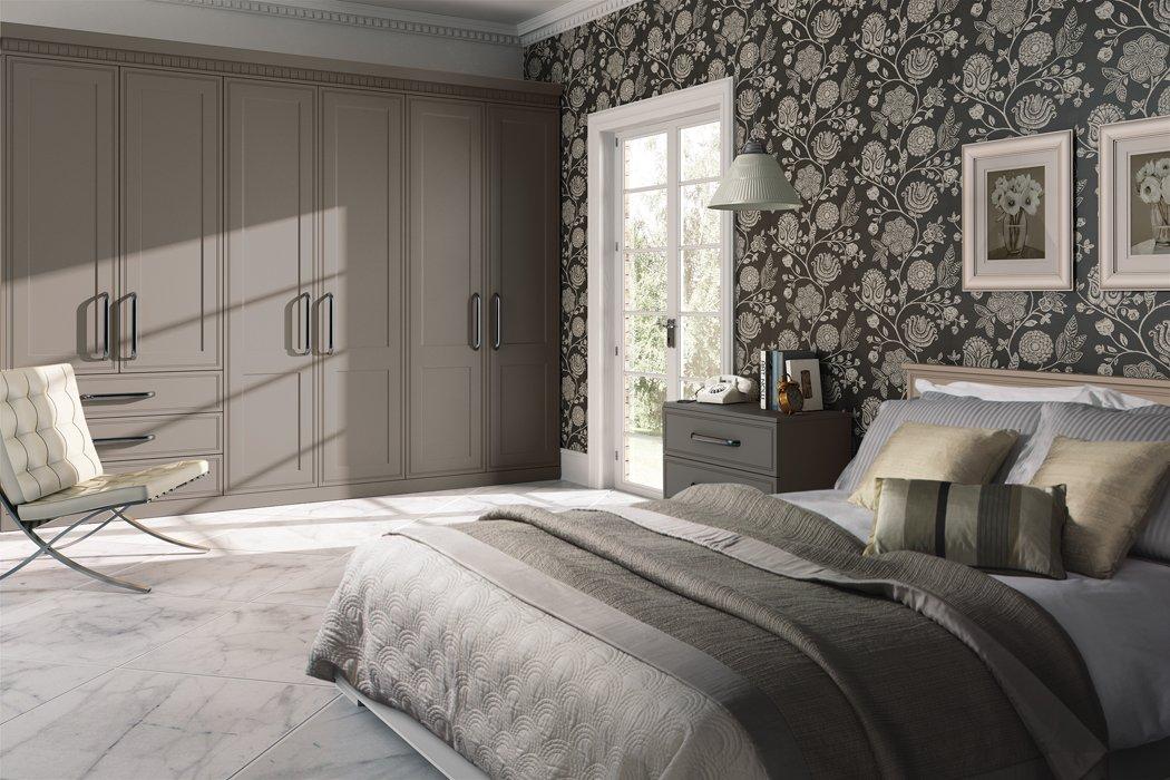 Bella Tullymore Matt Stone Grey Bedroom