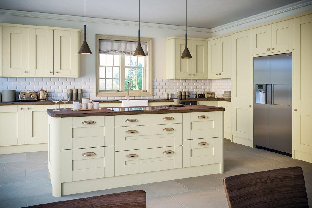 Oakgrain Cream Shaker Kitchen