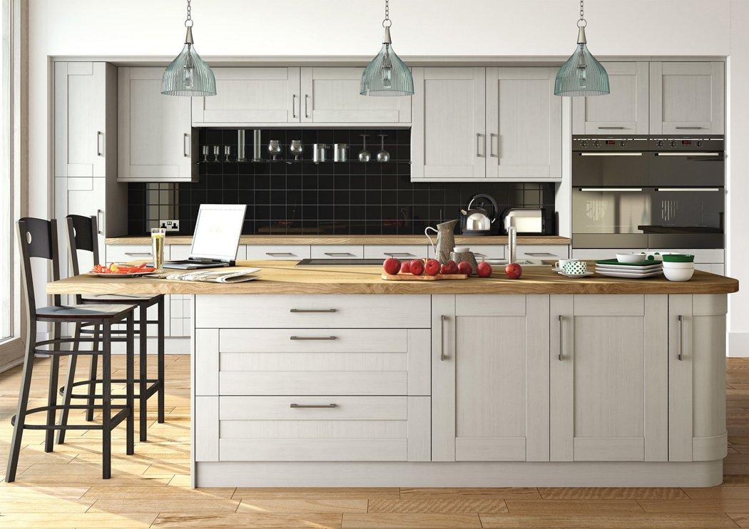 Pronto Wilton Oakgrain Grey Kitchen