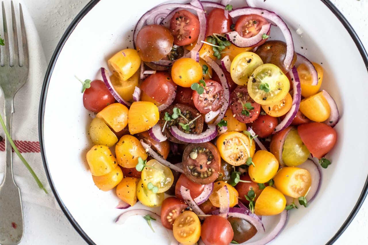 Image of cherry tomato salad