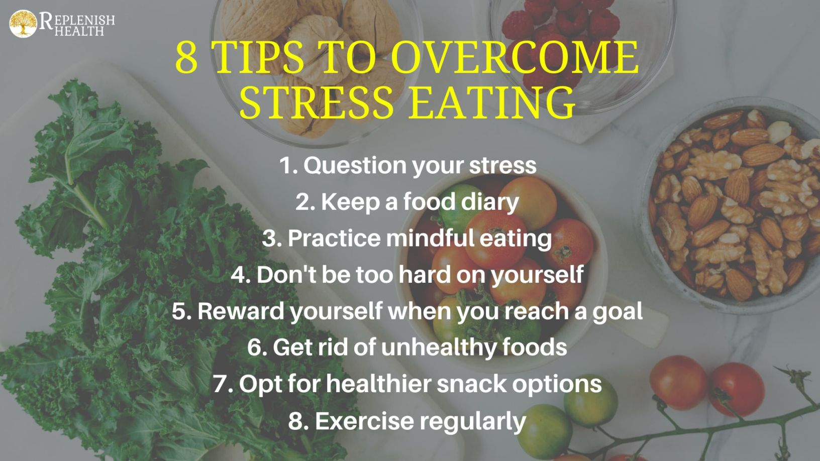 An image of 8 Tips To Overcome Stress Eating