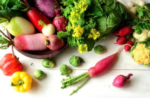 An image of colorful veggies