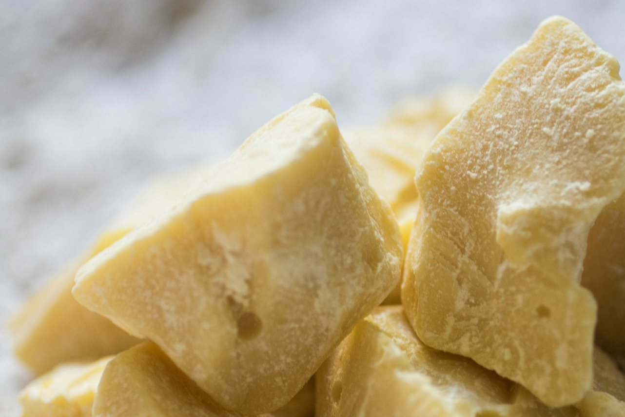 An image of chunks of cocoa butter