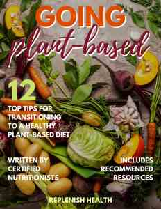 An image of an ebook cover with veggies