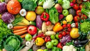 An image of vegetables and fruit