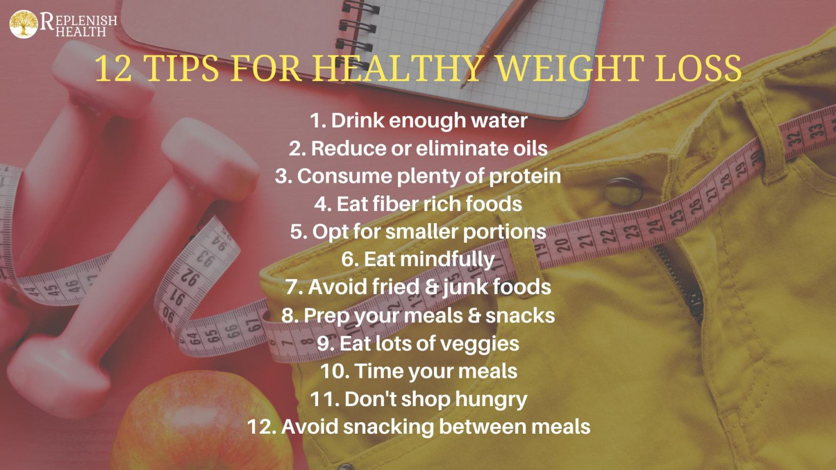 An image of 12 Tips For Healthy Weight Loss