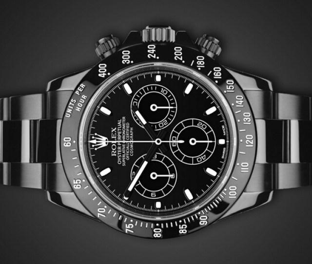 Customized Rolex Daytona 116520 Midnight Watches