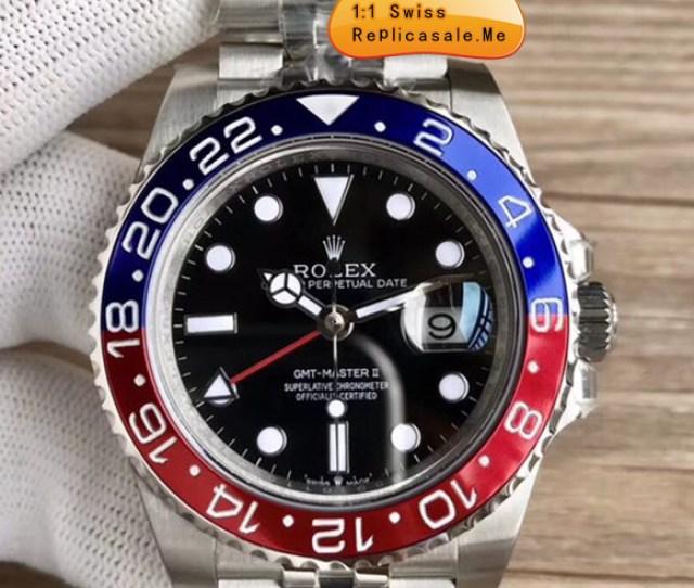 Best Fake Rolex Gmt Blue Red Bezel Swiss Eta 3290