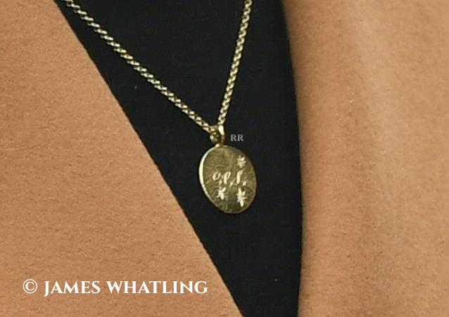 Daniella Draper G L C engraved pendant