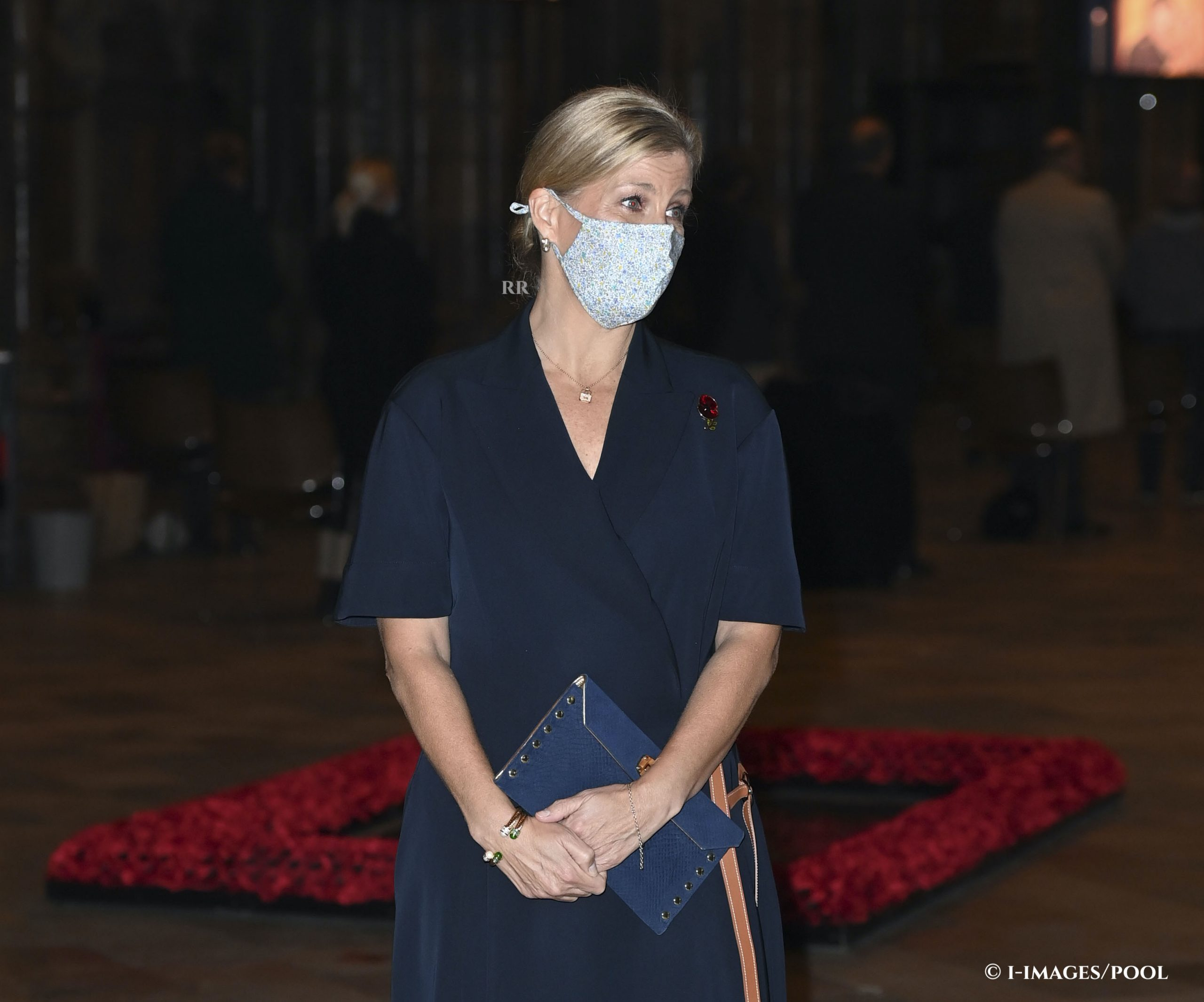 Countess of Wessex in navy Loewe for All Souls' Day service