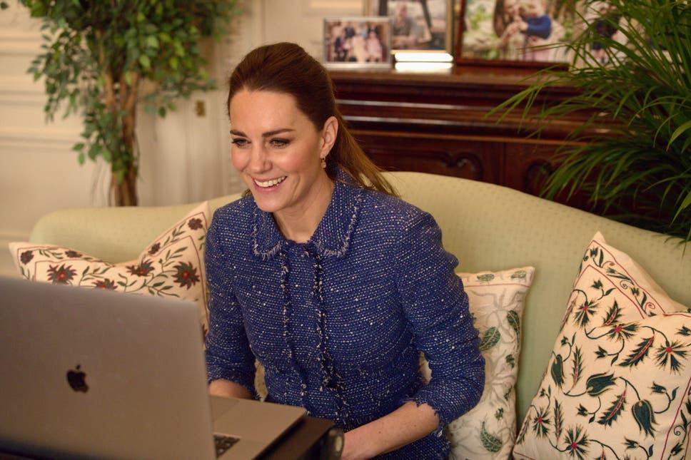 duchess of cambridge blue tweed jacket