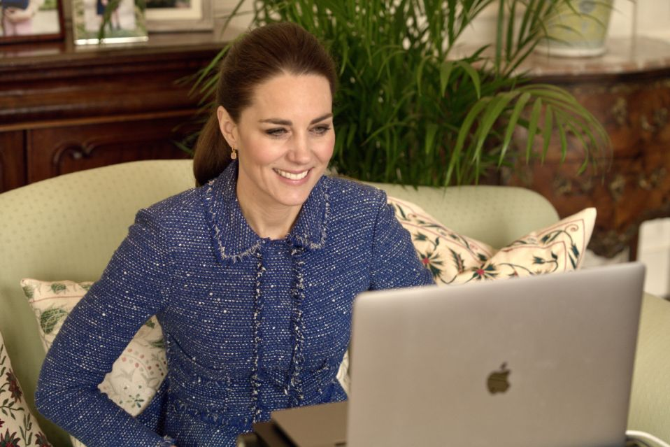 Kate returns to Rebecca Taylor tweed suit for call with teachers