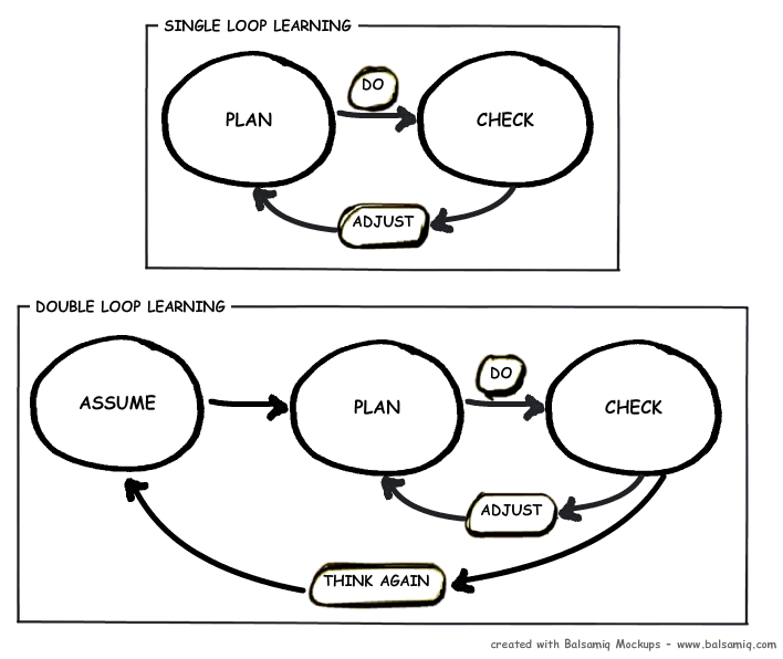 double-loop learning diagram