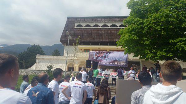 Protesta kundër HEC-eve e mbajtur në Bajram Curri | Foto nga : E. Keta