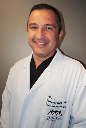 Dr. Fernando Techy (Photo courtesy ClinTech Center for Spine Health)