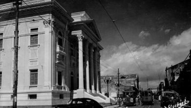 Photo of Quando os bondes iam e vinham na Rua Sá e Albuquerque, no Jaraguá, em meados da década de 50
