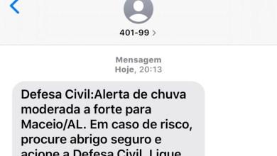 Photo of ALERTA DE CHUVA! Defesa Civil de Maceió emite notificação as 20:13 horas desta quinta-feita, 28
