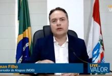 Photo of NOVAS MEDIDAS! Renan Filho antecipa prorrogação do decreto de isolamento; Assista!