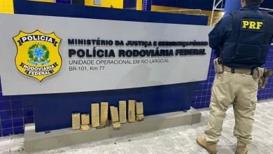 Photo of TRÁFICO: PRF prende homem com 5 kg de maconha dentro de carro na BR-101, em Rio Largo