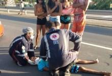 Photo of Colisão entre motociclista e bicicleta deixa um ferido na AL-101 Sul