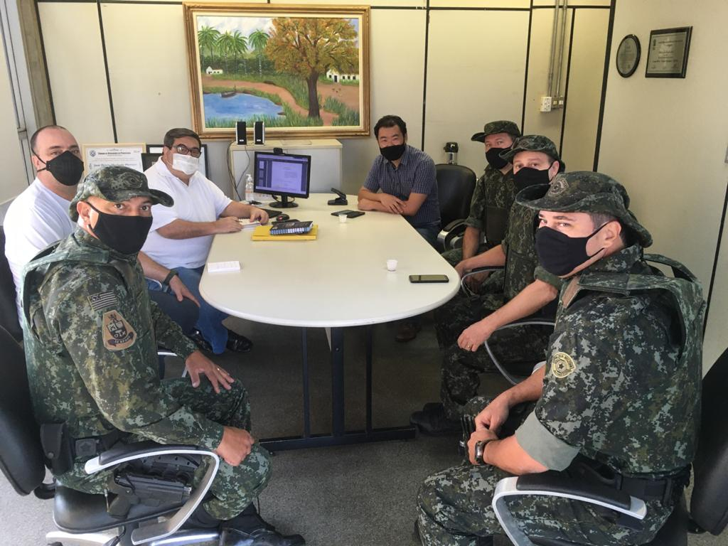 Comando da 7ª Cia. PM Ambiental se reuniu com Secretária de Meio Ambiente de Piracicaba