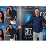 Cristaino Ronaldo in a pose with girlfriend
