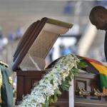 the president of south Africa paying his last respect