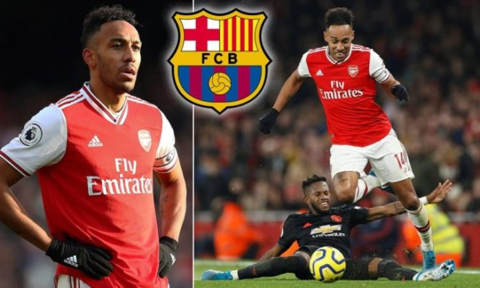 Late Interest From Barca Stops Aubameyang From Signing Arsenal Contract Extension