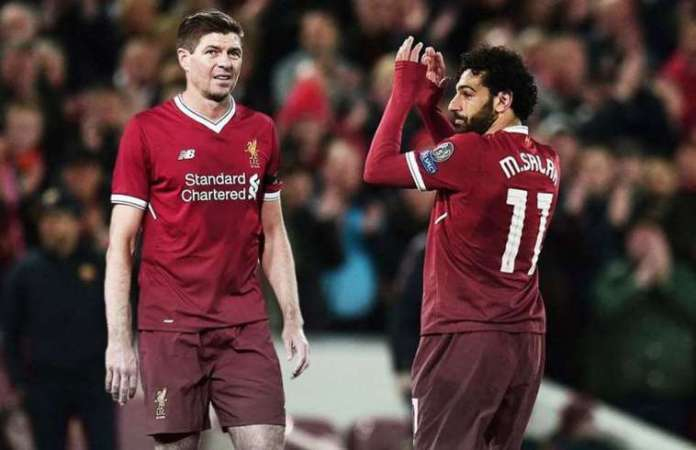 Salah Matches Gerrard's UCL Record In Just Four Seasons With Liverpool