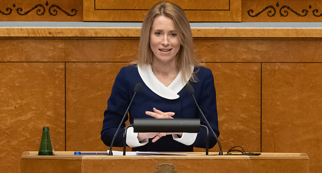 Estonia Gets First-ever Woman Prime Minister