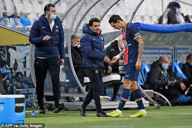Marseille 0-2 PSG: Di Maria Injury Update Emerges