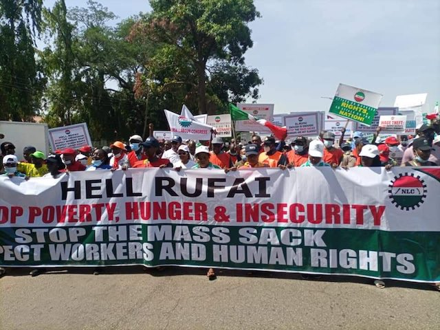 """Hell Rufai"": Workers Shut Kaduna Airport, Petrol Stations Run Out"