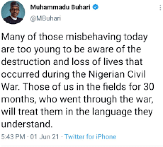 Twitter deletes Buhari's tweet for 'violating' rules | The Nation