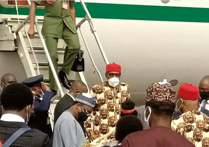 President Buhari Arrives Imo To Inaugurate Projects