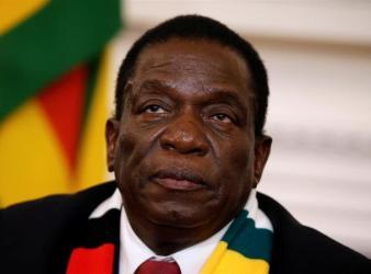 Zimbabwe president Mnangagwa t