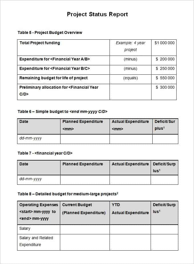 project sheet template 7 free pdf documents download free project – Project Status Report Excel