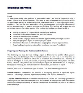 business report template writing word excel format business