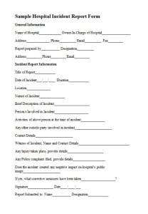 medical report format