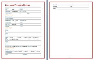 Customer Feedback Report Template