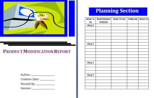 Product Modification Report Template